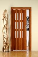 Дверь Гармошка со стеклом